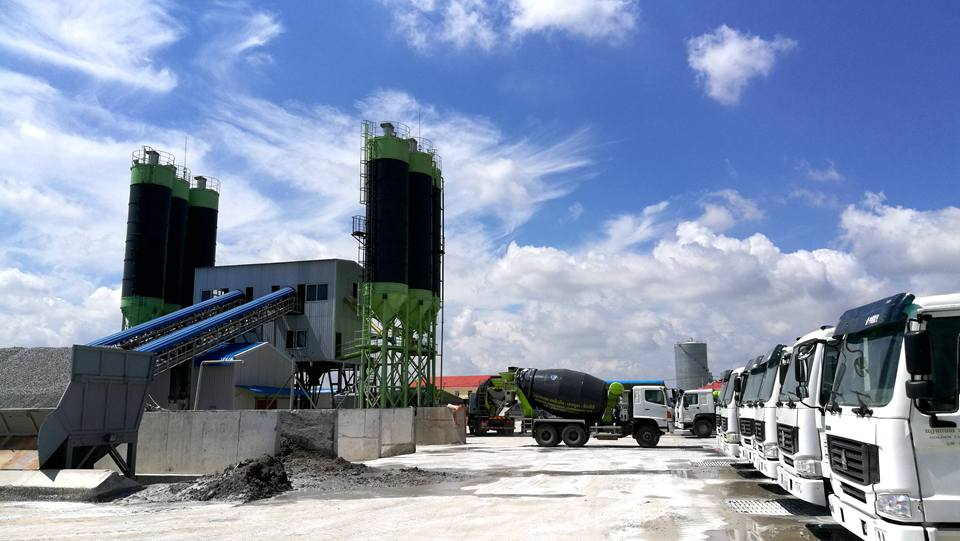 2*HZS90 Batching Plant in Cambodia Phnom Penh